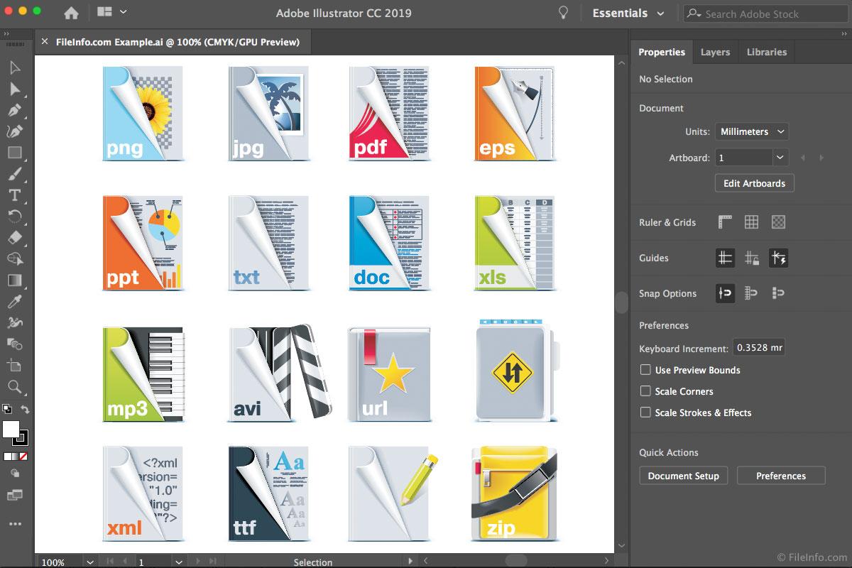 Adobe Illustrator CC 2019概述和支持的文件类型